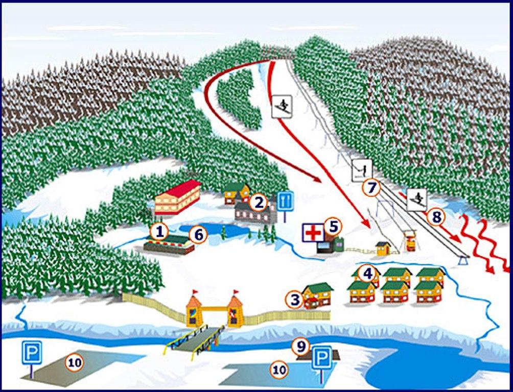 Горнолыжный курорт Мигово - схема трасс и подъемников, отдых на курортах Черновицкой области